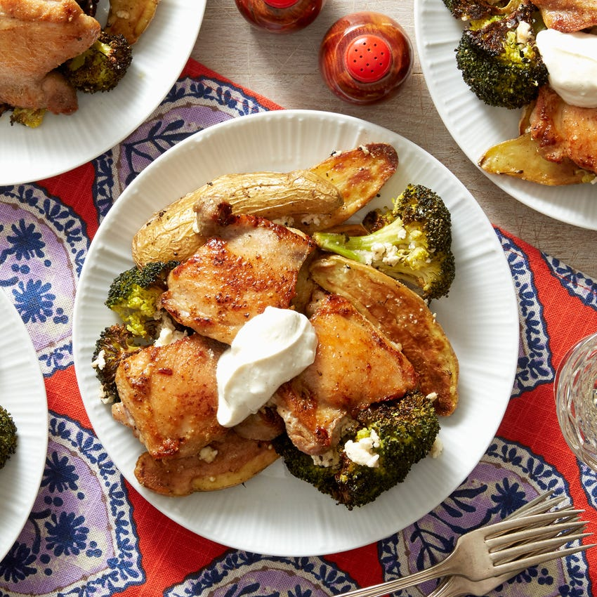 Greek Lemon Chicken with Fingerling Potatoes & Feta Cheese