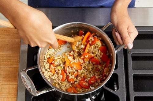 Finish the barley & serve your dish: