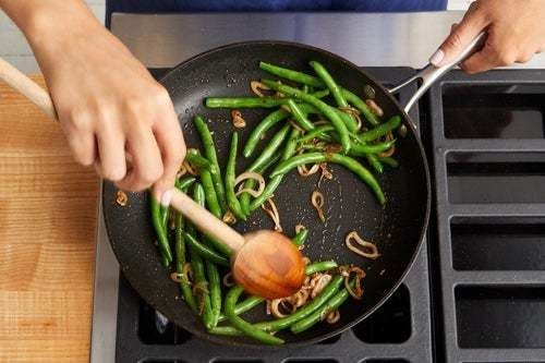 Blanch & finish the green beans: