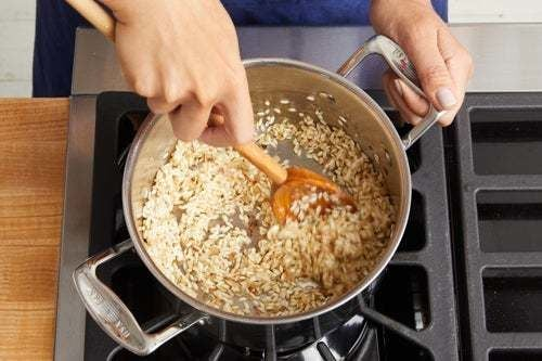 Start the risotto: