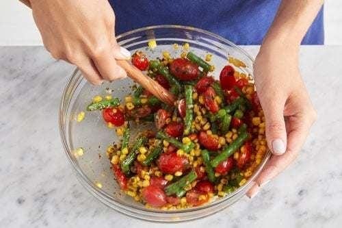 Finish the salad: