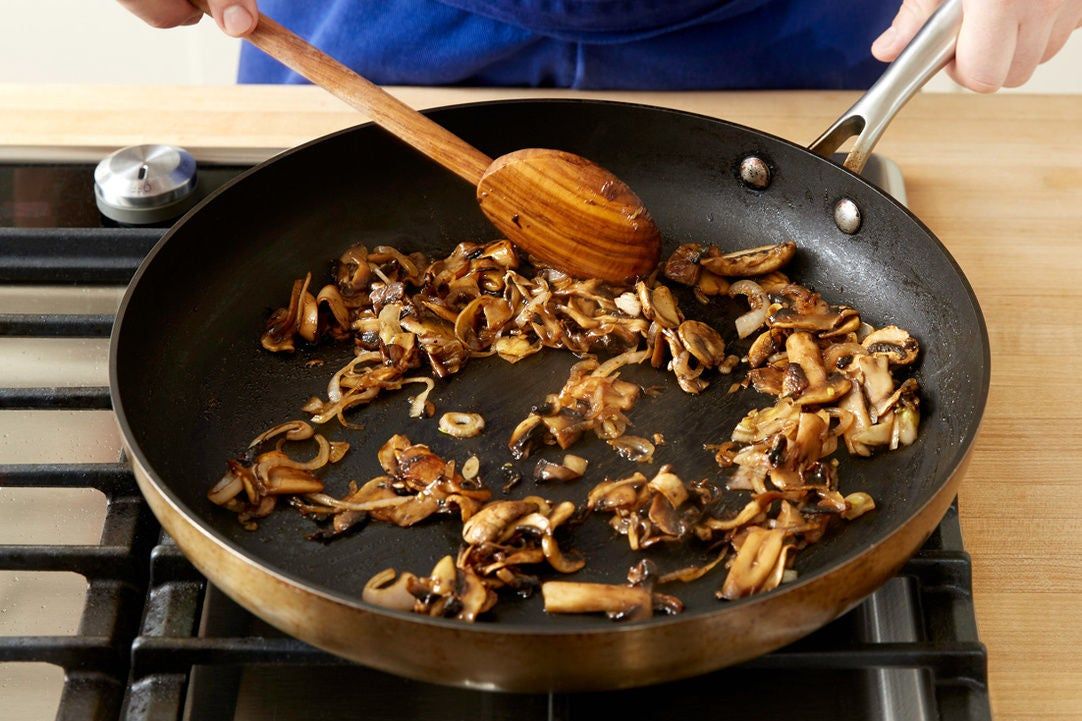 Cook the mushrooms & shallot: