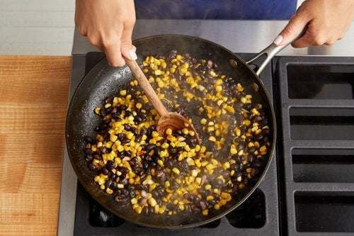 Cook the corn & beans: