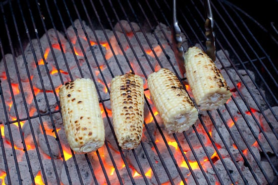 Grill the corn, then the slider buns: