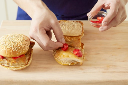 Assemble the sandwiches & plate your dish: