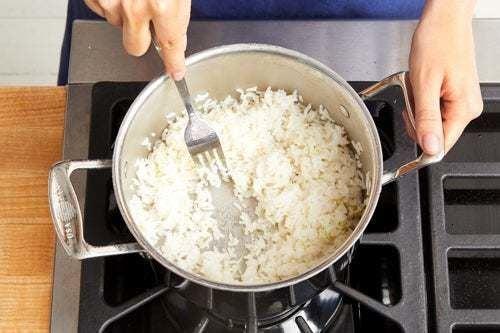 Make the lime rice:
