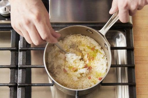 Start the rice:
