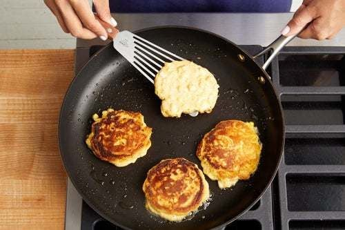 Make the corn pancakes: