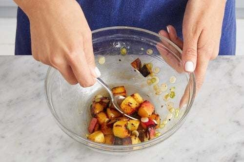 Make the peach salsa & serve your dish:
