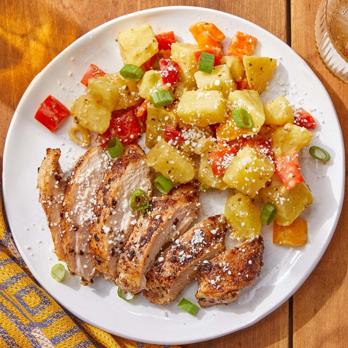Mexican-Style Chicken with Tomatillo Potato Salad