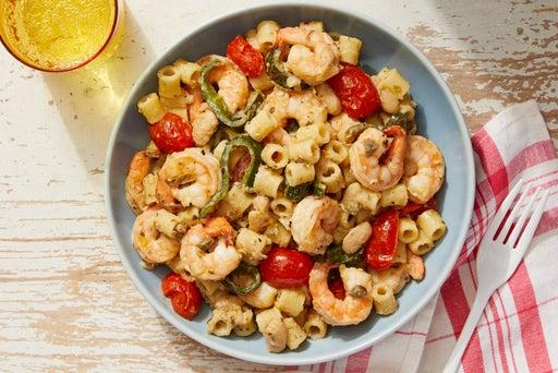 Shrimp & White Bean Pasta with Fresh Tomatoes