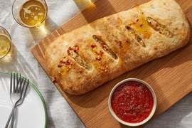 Sicilian Cauliflower Stromboli with Hot Honey & Tomato Dipping Sauce