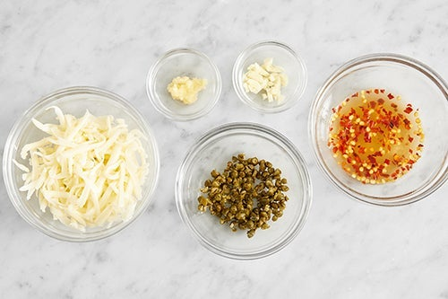 Prepare the remaining ingredients & make the hot honey: