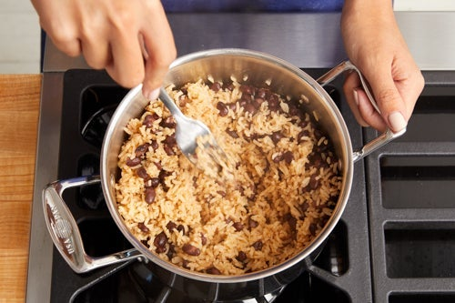 Cook the rice & beans: