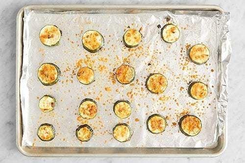 Bake the zucchini: