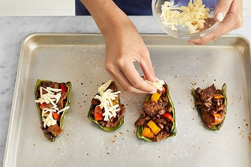 Make the stuffed peppers & serve your dish: