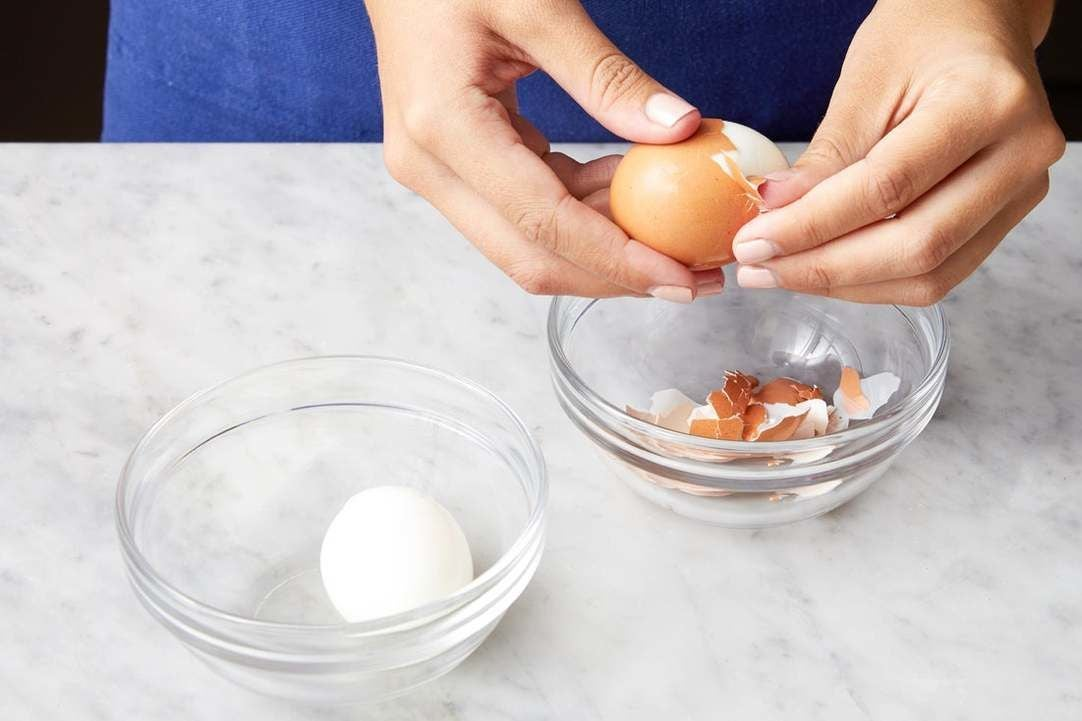 Cook the eggs: