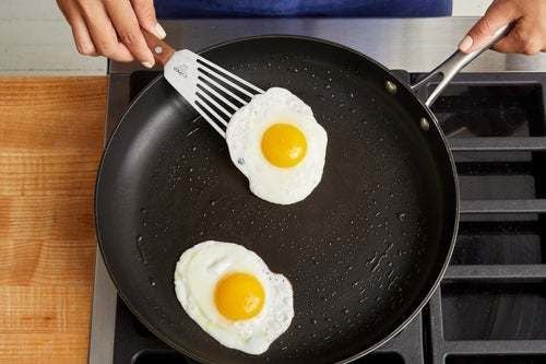 Fry the eggs: