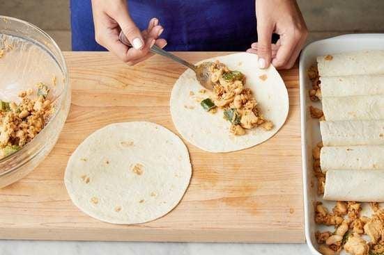 Make the enchiladas & serve your dish: