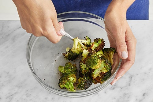 Roast & dress the broccoli: