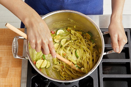 Finish the pasta & serve your dish: