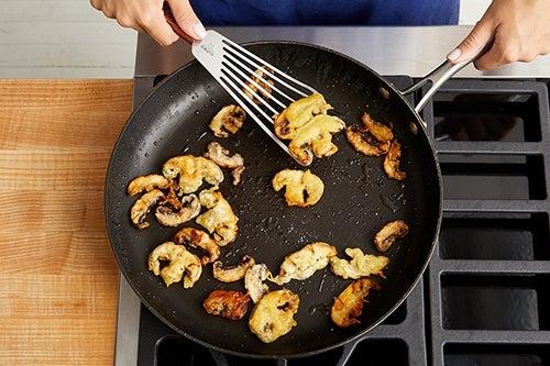 Make the tempura mushrooms: