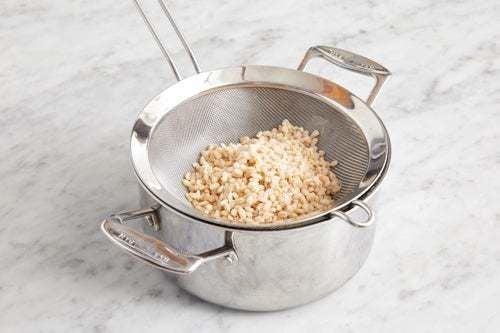 Cook the barley: