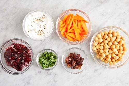 Prepare the ingredients & marinate the beets:
