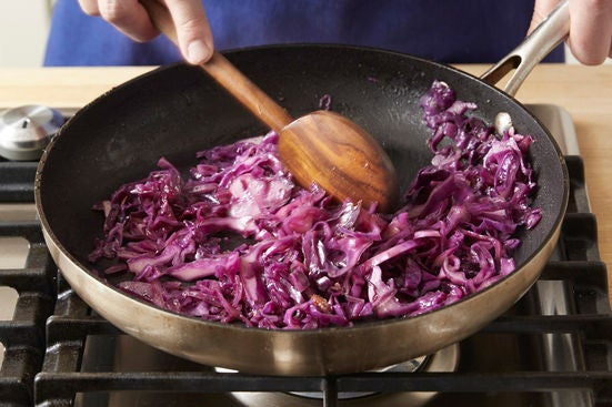 Cook the cabbage & plate your dish: