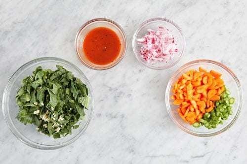 Prepare the ingredients & make the glaze: