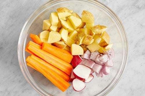 Prepare the vegetables:
