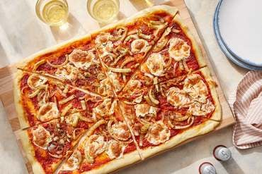 Fennel & Onion Pizza with Fried Rosemary