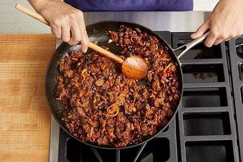 Cook the Beyond Beef & vegetables: