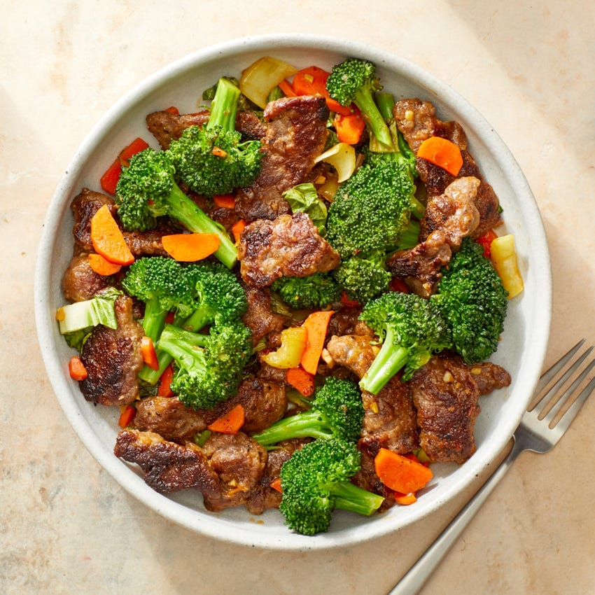 Beef & Vegetable Stir-Fry with Spicy Sambal Sauce