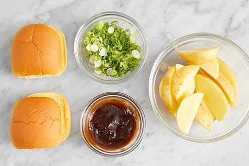 Prepare the ingredients & make the hoisin ketchup:
