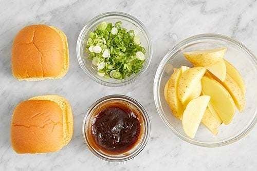 Prepare the ingredients & make the hoisin ketchup:
