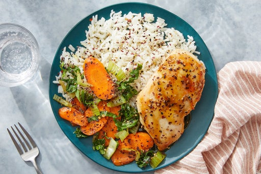 Chicken Teriyaki & Aromatic Rice with Bok Choy & Carrots