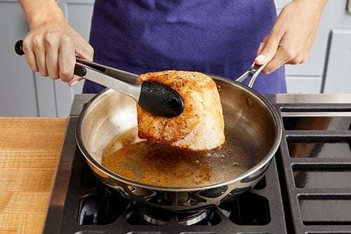 Prepare & sear the pork: