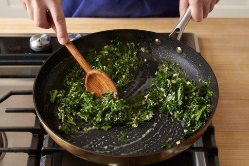 Finish the kale: