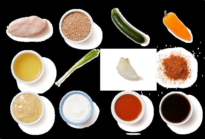 Cajun-Spiced Chicken & Maple Mustard with Creamy Vegetable Farro