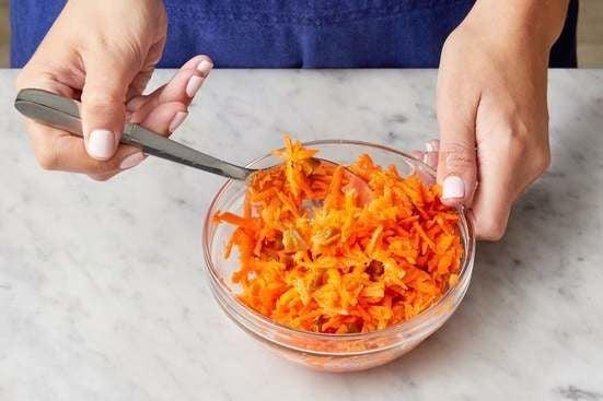 Marinate the carrots: