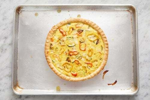 Bake the quiche & serve your dish: