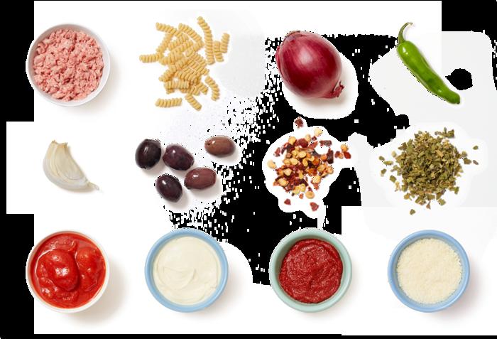 Pork Ragù & Fusilli Bucati Corti with Shishito Peppers