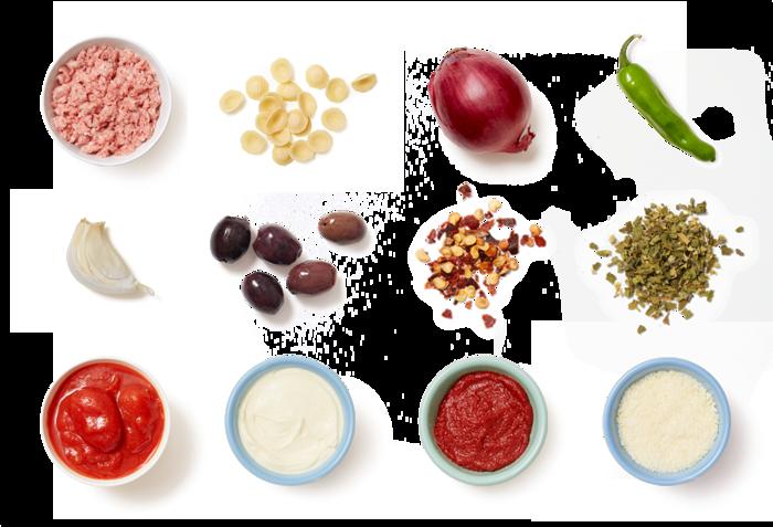 Orecchiette & Pork Ragù with Shishito Peppers