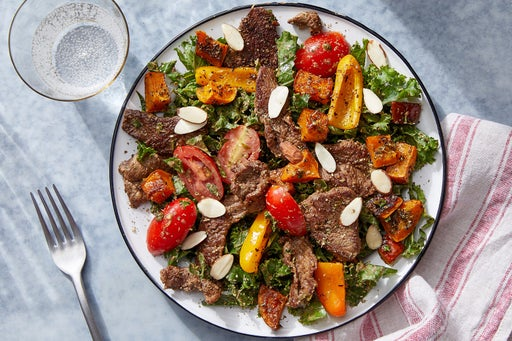 Italian-Style Beef Salad with Roasted Vegetables & Creamy Balsamic Dressing