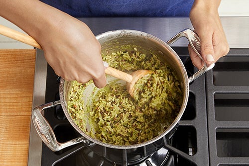 Make the pesto rice: