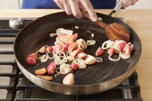 Cook the radishes: