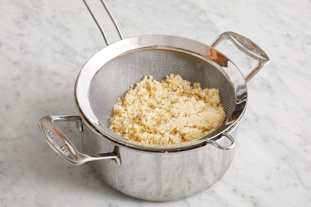 Cook the freekeh: