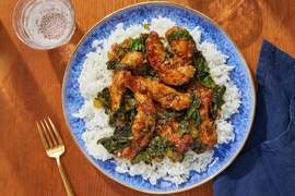 General Tso's Chicken with Gai Lan & Jasmine Rice