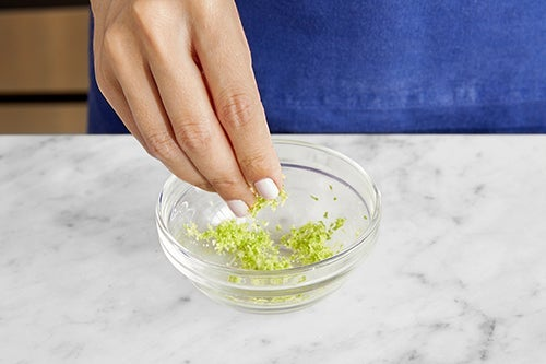 Make the lime salt: